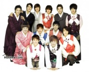 Suju memakai baju khas korea