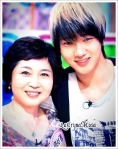 yesung and his mother